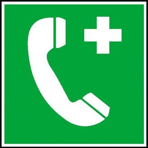 Notruftelefon Rettungsschild - Größe - 20x20cm DE80