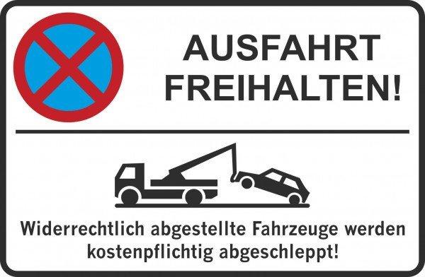 Parkplatzschild - Ausfahrt FREIHALTEN! - 300x200 cm