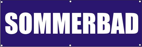 Werbeplane / Gerüstplane - p100 - Sommerbad - NEU - für Baustelle, Garten, Zaun oder Veranstaltung