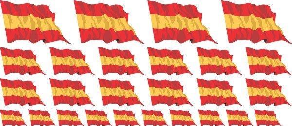Mini Aufkleber Set - Spanien