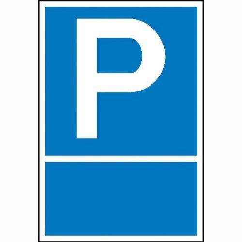 Parkplatzschild Symbol: P, zur Selbstbeschriftung - 15x25cm DE51