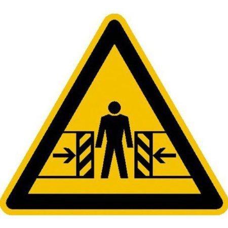 Warnung vor Quetschgefahr Warnschild, Büro Sicherheit - 20cm DE422