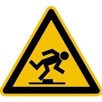 Warnung vor Stolpergefahr - 20cm DE891