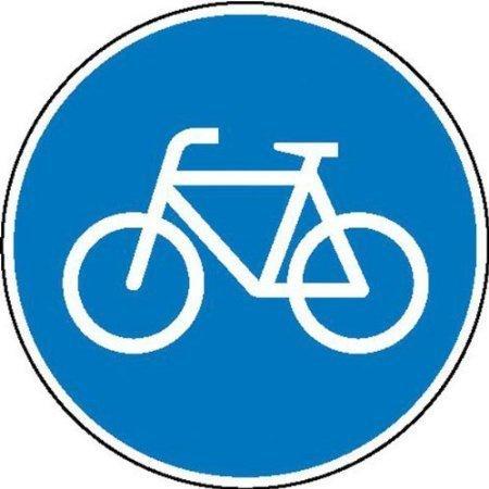 onderweg Radfahrer Verkehrsschild, Büro Sicherheitender - 20cm DE474