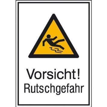 Vorsicht! Rutschgefahr - 13,10x18,50cm DE809