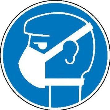 Gebotsschild Leichten Atemschutz tragen - 31,50cm DE851