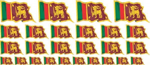 Mini Aufkleber Set - Sri Lanka