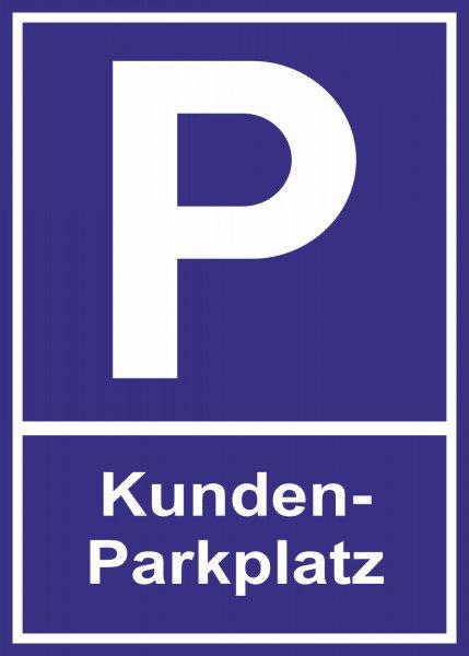 Parkplatzschild - Kundenparkplatz - 21x15 cm