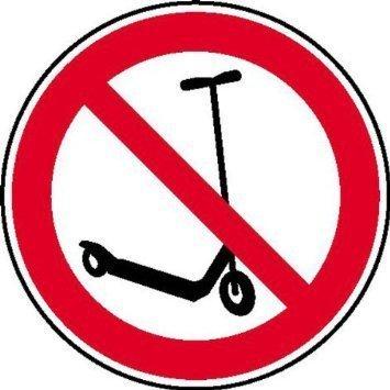 Kickboard fahren verboten - 20cm DE870