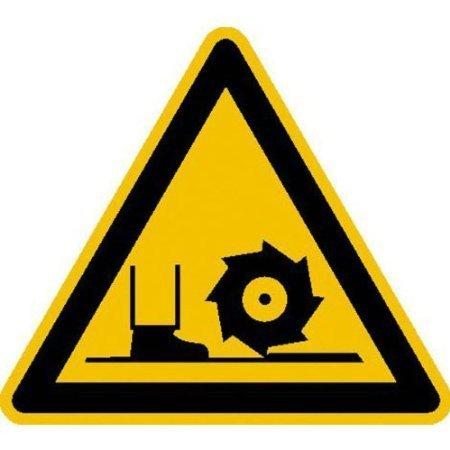 Warnung vor Fräswelle Warnschild, Büro Sicherheit - 10cm DE502
