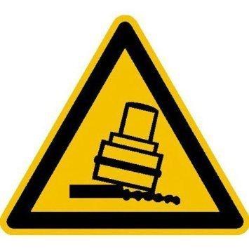 Warnung vor Kippgefahr beim Walzen - 10cm DE958