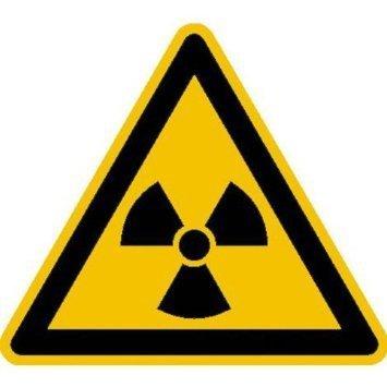 Warnung vor radioaktiven Stoffen - 10cm DE936
