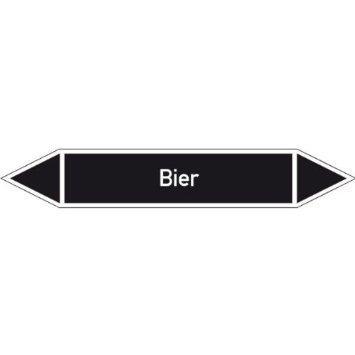 Bier Rohrleitungskennzeichnung/Pfeilschild Gr.9 - 22,3x3,7cm DE1017
