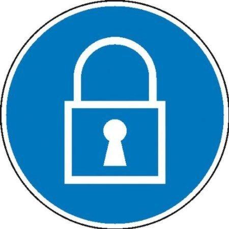Sperren Gebotsschild, Büro Sicherheit - 20cm 1
