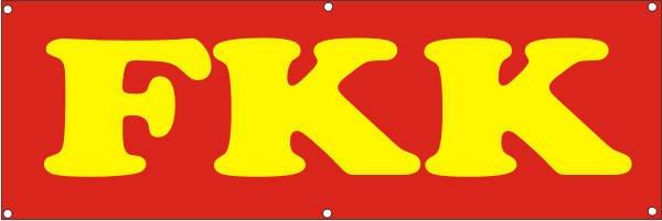 Werbeplane / Gerüstplane - p137 - FKK - NEU - für Baustelle, Garten, Zaun oder Veranstaltung