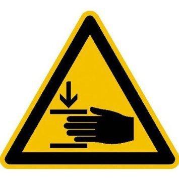 Warnung vor Handverletzungen Warnschild - 10cm DE826