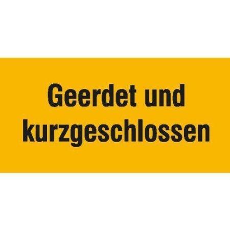 Geerdet und kurzgeschlossen - 10x5cm DE499