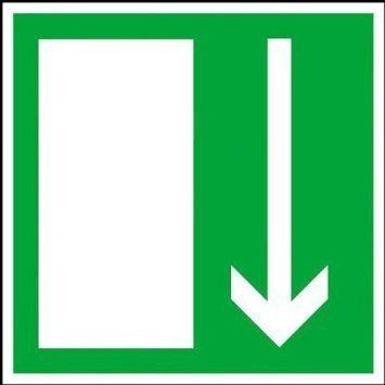 Rettungsschild Notausgang - 14,80x14,80cm DE1021