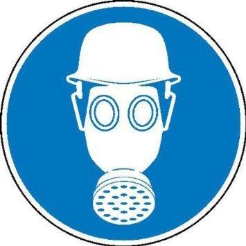 Atem- und Kopfschutz benutzen Gebotsschild - 40cm DE866