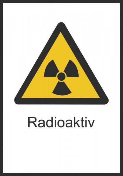 Warnschild/Strahlenschutz Radioaktiv, 21,00x29,70 cm