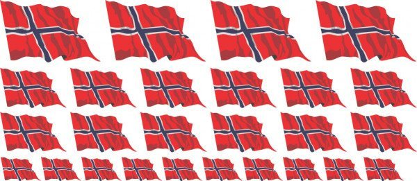 Mini Aufkleber Set - Norwegen