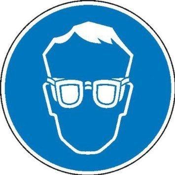 Augenschutz benutzen Gebotsschild - 10cm DE655