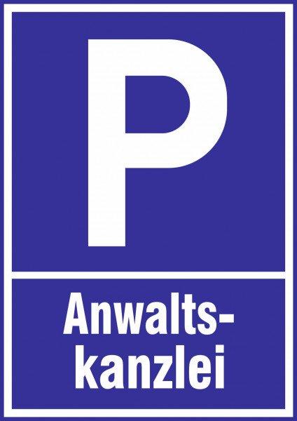 Parkplatzschild - Anwaltskanzlei - 21x15 cm