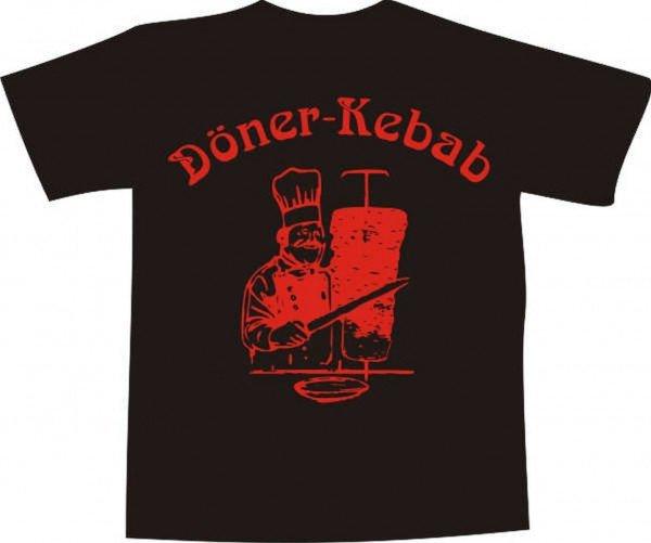 T-Shirt - Döner Kebab bedruckt - Brustaufdruck