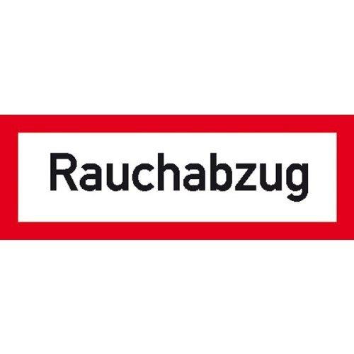 Rauchabzug Hinweisschild für den Brandschutz - 29,70x10,50cm DE224
