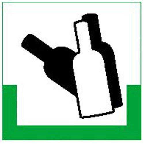 Glas bunt RESIGN/Symbolschild - 20x20cm DE194