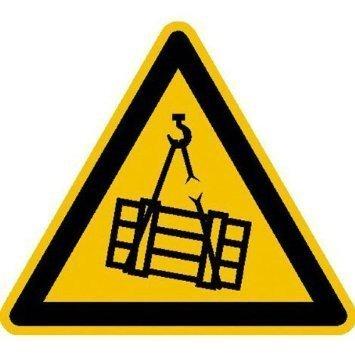 Warnung vor schwebender Last Warnschild - 20cm DE827