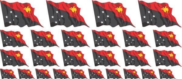 Mini Aufkleber Set - Papua-Neuguinea