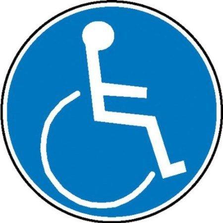 Für Rollstuhlbenutzer Gebotsschild, Büro Sicherheit - 10cm DE564