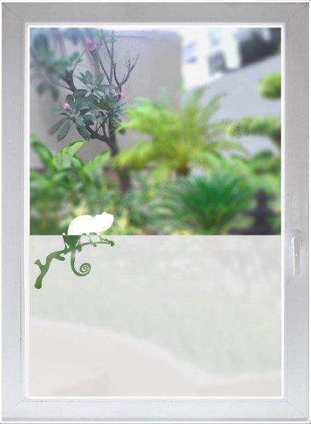 Fensterfolie Sichtschutz Folie Sonnenschutz Glasdekorfolie Chamäleon satiniert blickdicht