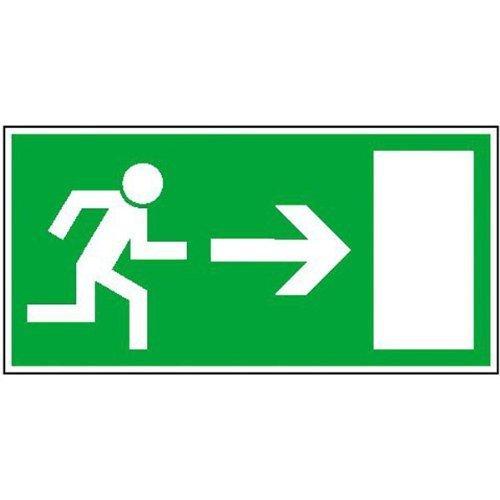 Rettungsweg rechts Rettungsschild - 30x15cm DE54