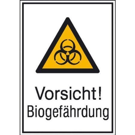 Vorsicht! Biogefährdung - 13,10x18,50cm DE436