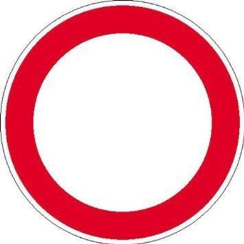 Verbotszeichen, zur selbstbeschriftung Hinweisschild - 10cm DE922