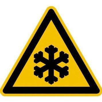 Warnung vor Kälte - 40 cm