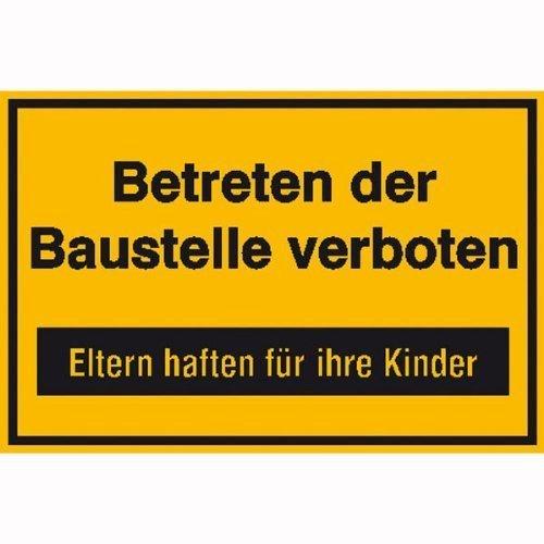 Betreten der Baustelle verboten Hinweisschild - 30x20cm DE125
