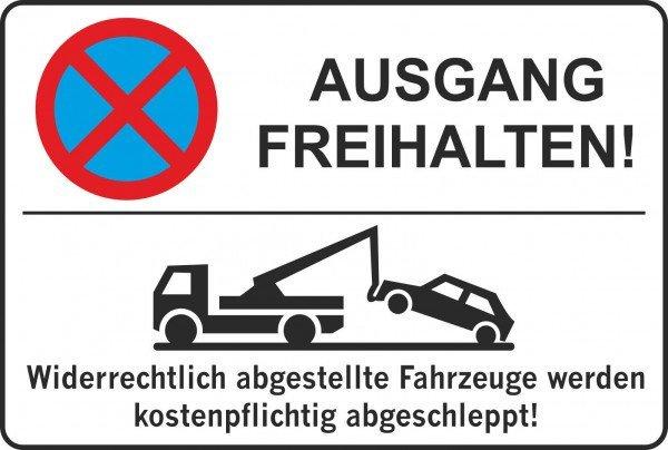 Parkplatzschild - AUSGANG FREIHALTEN! - 300x200 cm