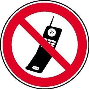 Handy benutzen verboten Verbotsschild - 40cm DE602