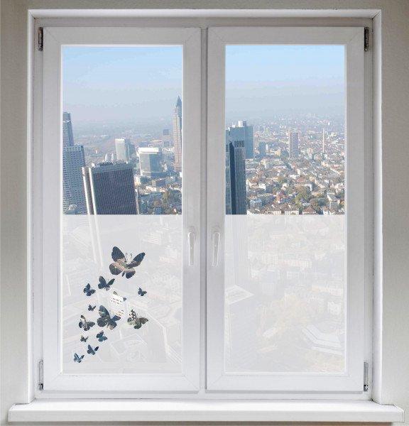 Glasdekorfolie Schmetterling Sichtschutzfolie Fensterfolie Butterflies satiniert blickdicht