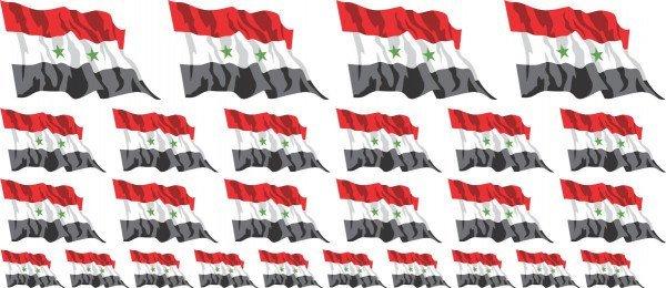 Mini Aufkleber Set - Syrien