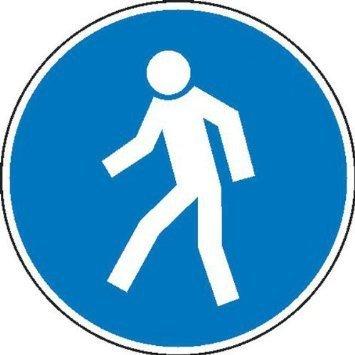 Für Fußgänger Gebotsschild, Größe - 10cm DE872