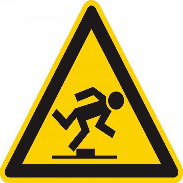 Warnung vor Stolpergefahr Warnschild, 31,50cm