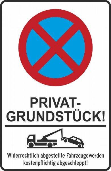 Parkplatzschild - PRIVAT-GRUNDSTÜCK! - 200x300 mm