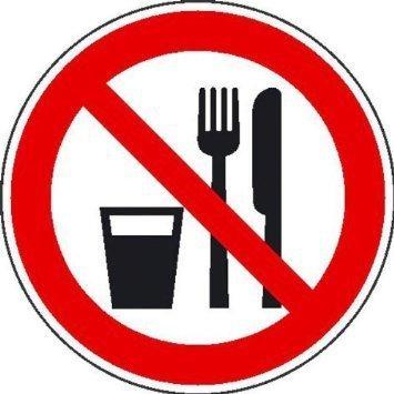 Essen und Trinken verboten Verbotsschild - 10cm DE800