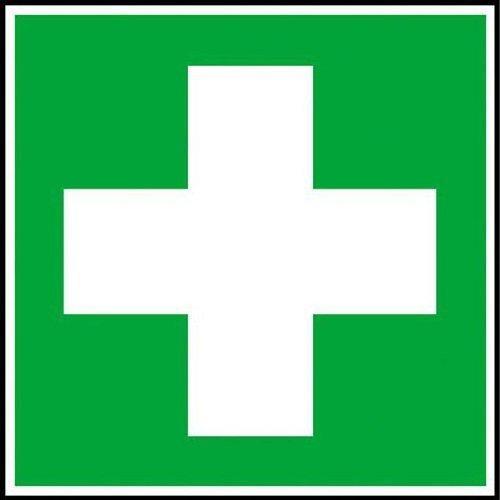 Erste Hilfe Rettungsschild - 15x15cm DE117