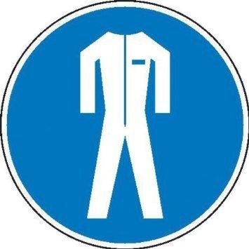 Schutzkleidung benutzen Gebotsschild - 315cm DE886