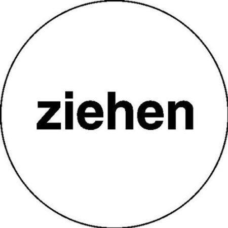 Ziehen-weiß/schwarz Türschilder, Büro Sicherheit - 6cm DE463